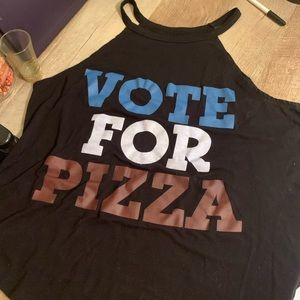 Vote for Pizza high neck top